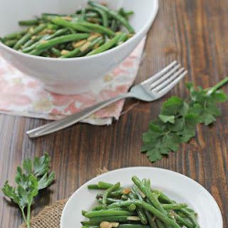Green Beans with Almonds and Shallots.