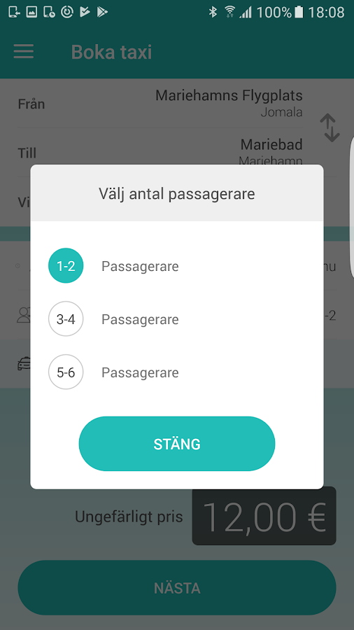 TAXIbolaget- screenshot