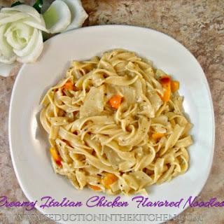 Creamy Italian Chicken Flavored Noodles.