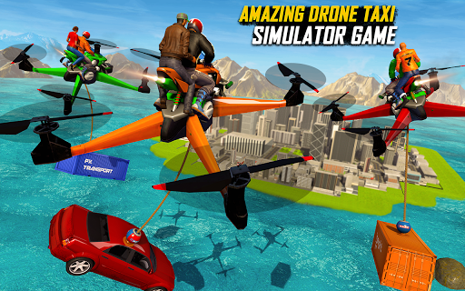 Drone Rescue Simulator: Flying Bike Transport Game android2mod screenshots 11