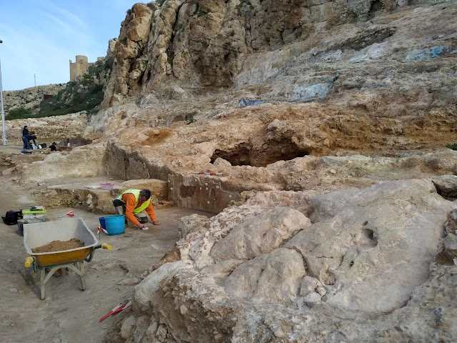 Zona arqueológica en la que se sigue trabajando junto a San Cristóbal