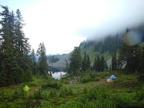 Photo: Billions of people set up camp near Ridge and Gravel Lakes. Not us.