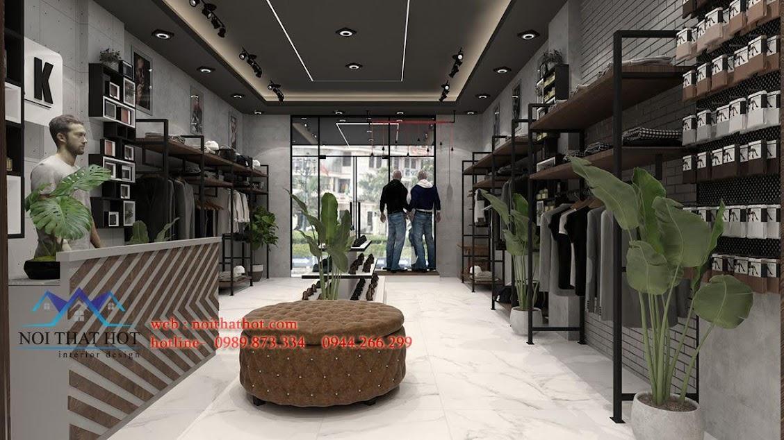 mẫu thiết kế shop quần áo đẹp