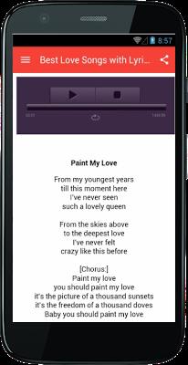 Best Love Songs with Lyrics - screenshot