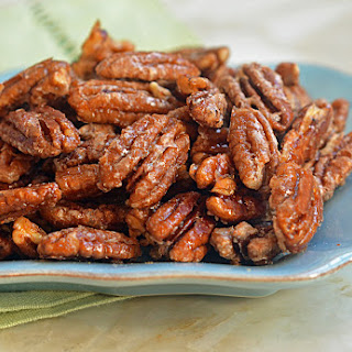 Sweet, Spicy & Salty Candied Pecans.