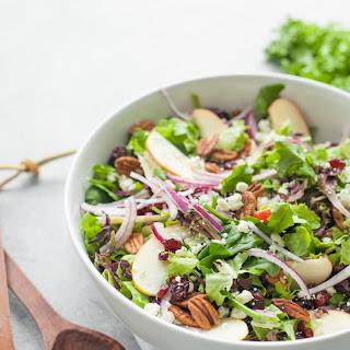 Cranberry Apple Pecan Salad with Honey Mustard Vinaigrette Recipe