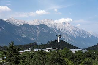 Photo: Widać już skocznię, a to znak, że zbliżam się do Innsbrucka.