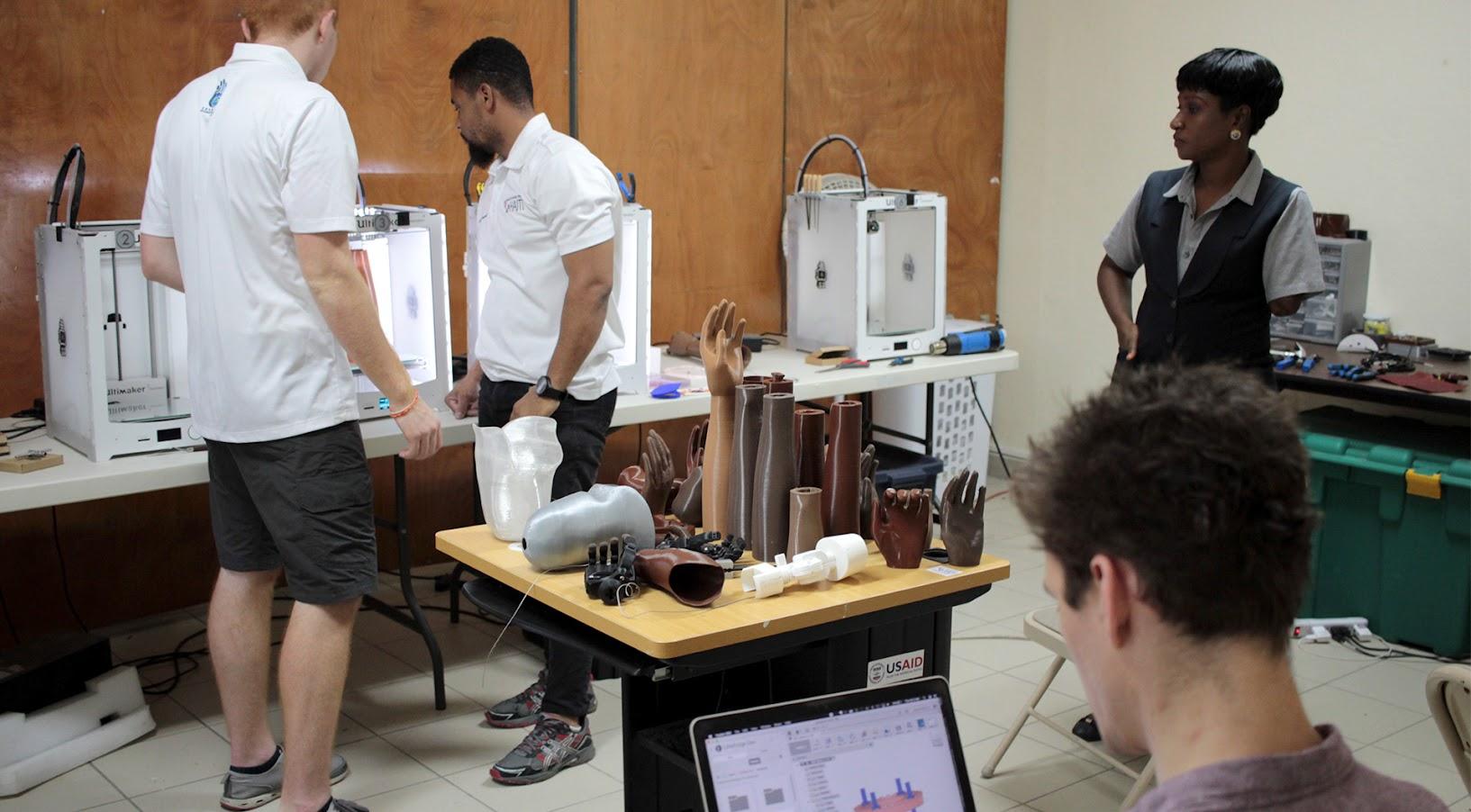 3D-печать в клинике Healing Hands для Гаити. Предоставлено LimbForge.