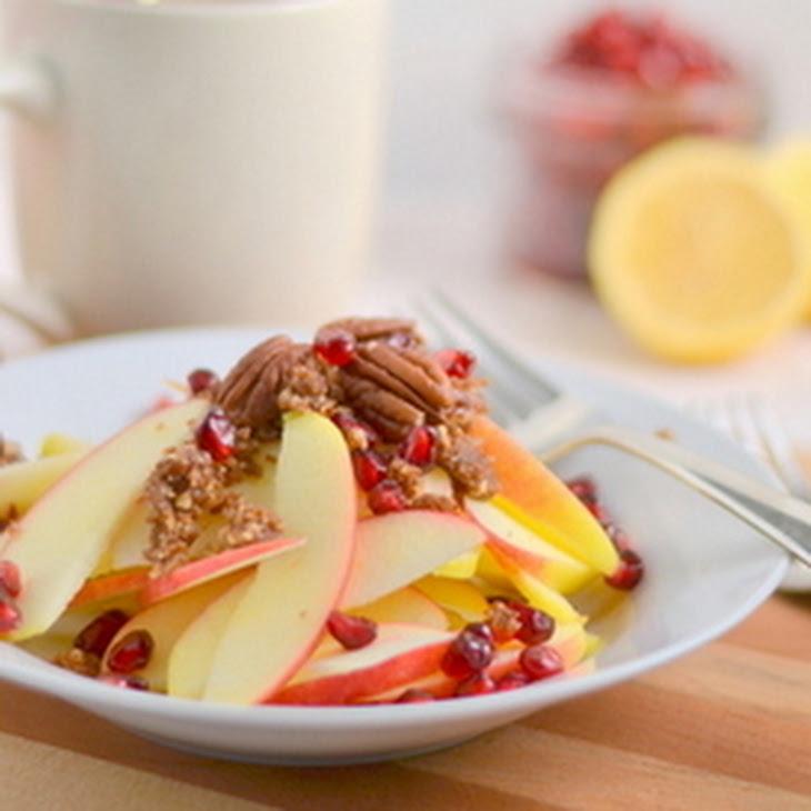 Raw Apple Pom Crumble Recipe