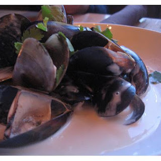 Coconut Steamed Mussels.