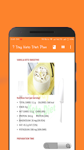 7 Day Keto Diet Plan 🍉 Screenshot