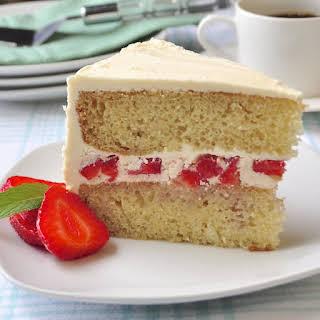Strawberry Vanilla Butter Cake.