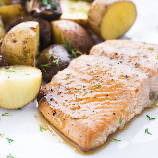 Salmon with Prosecco Sauce.