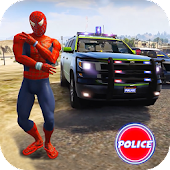 Tải Cop Cars Superhero Stunt Simulator APK