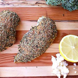 Spinach and Feta Stuffed Greek Chicken.