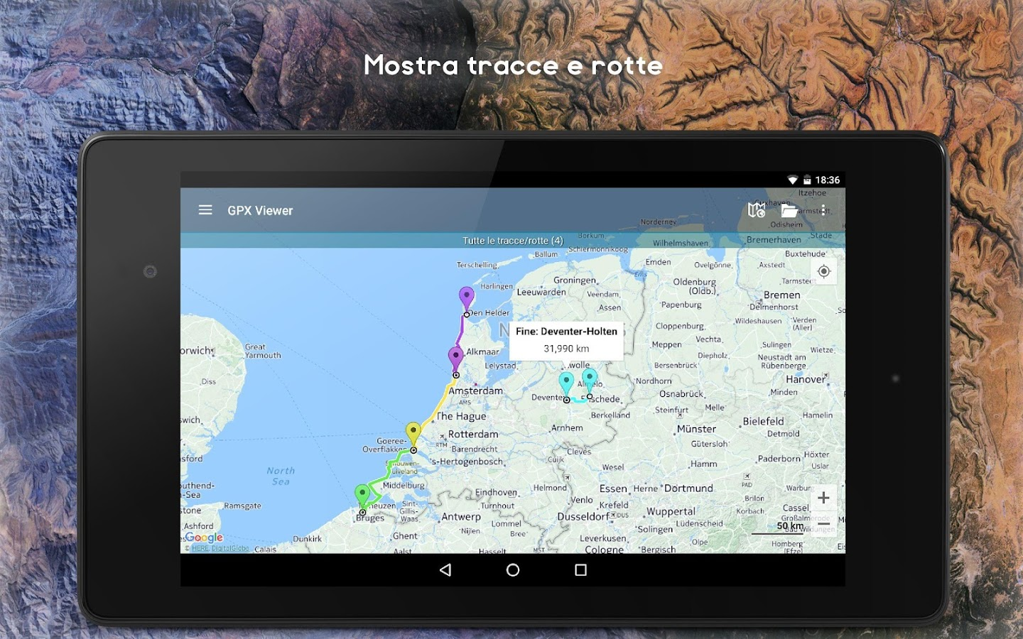 GPX Viewer - Tracce, Rotte e Waypoint- screenshot