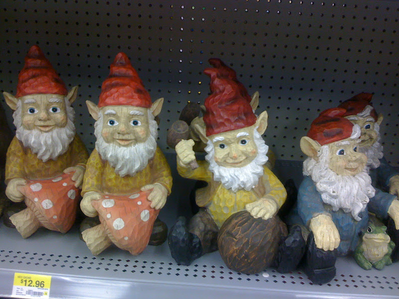 Photo: My best friend buys me gnomes for every birthday and Christmas...wonder if she'll get me one of these guys? Ha!