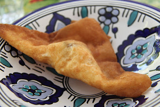 Photo: 'Le Brique' is a tasty deepfried treat usually filled with parsely and mince-meat and a runny egg, this one is with Tuna. Delicious!