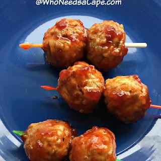 Sweet Sriracha Meatballs.
