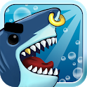 Angry Shark Evolution - fun craft cash tap clicker icon