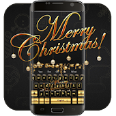 Golden Merry Christmas music keyboard