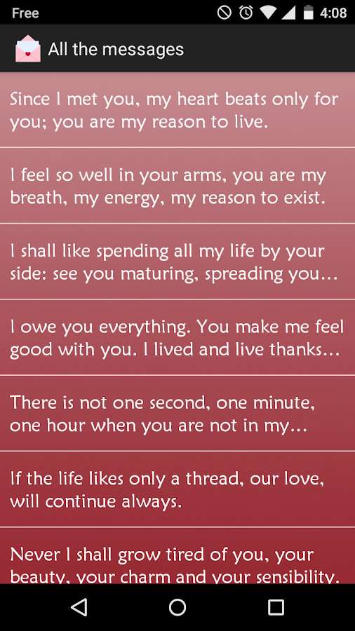 Love Messages SMS PRO- screenshot