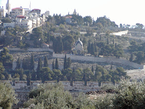 Photo: Looking towards the Mount of Olives. Here it is said that God will redeem the dead when the Messiah returns on the Day of Judgment. This is  a preferential place for Jewish burials and it is the world's oldest continually used cemetery. 150,000 persons are buried here.