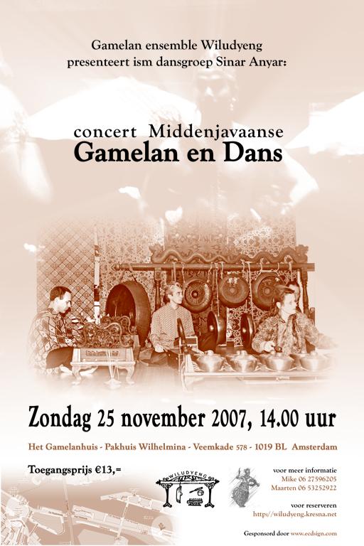 2e editie Concert gamelan en dans in het Gamelanhuis