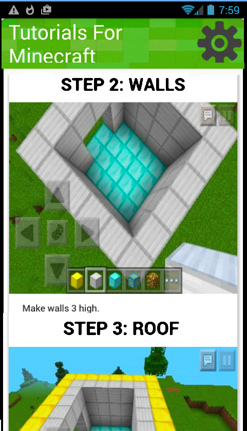 tutorials for minecraft build android apps on google play