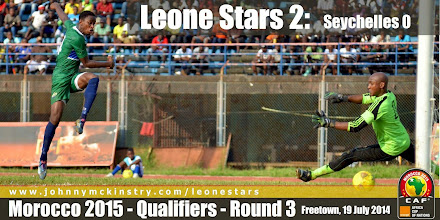 Photo: [Leone Stars v Seychelles, Freetown, 19 July 2014 (Pic: Darren McKinstry)]