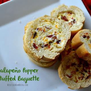 Jalapeño Popper Stuffed Baguette.