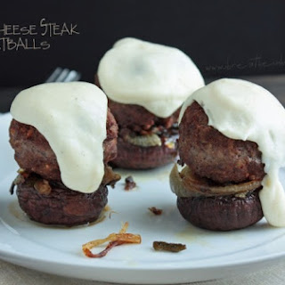 Philly Cheese Steak Meatball (Low Carb and Gluten Free).
