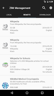 Kiwix, Wikipedia offline Screenshot