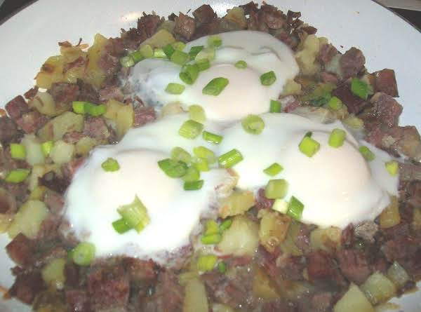 Corned Beef Hash & Eggs Recipe