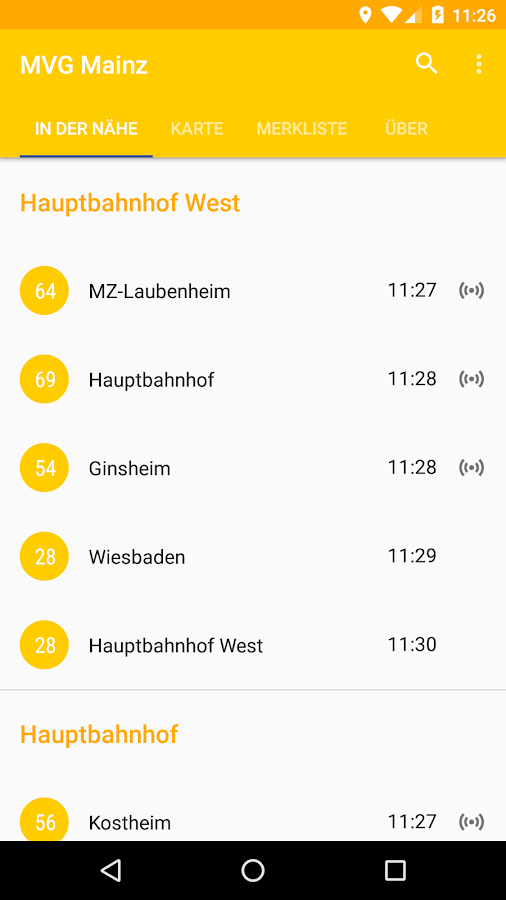 MVG Mainz- screenshot