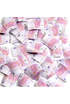 Konfettibomb, eurosedlar 28cm