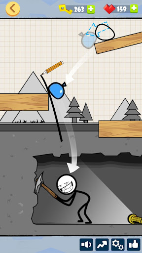 Bad Luck Stickman- Addictive draw line casual game - screenshot
