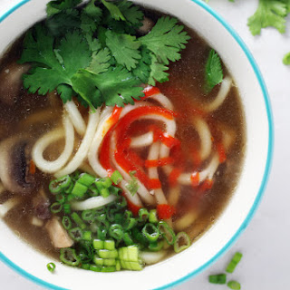 Crave Worthy Udon Noodle Ginger Soup.