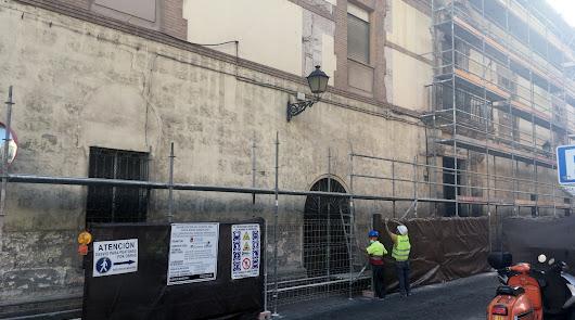 Vuelven las obras a la fachada y al patio central del Hospital Provincial