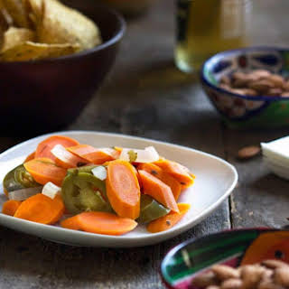 Authentic Mexican Pickled Carrots.