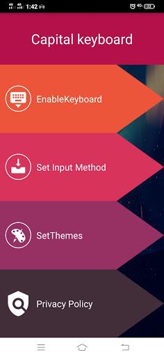 Capital Keyboard app screenshot 5