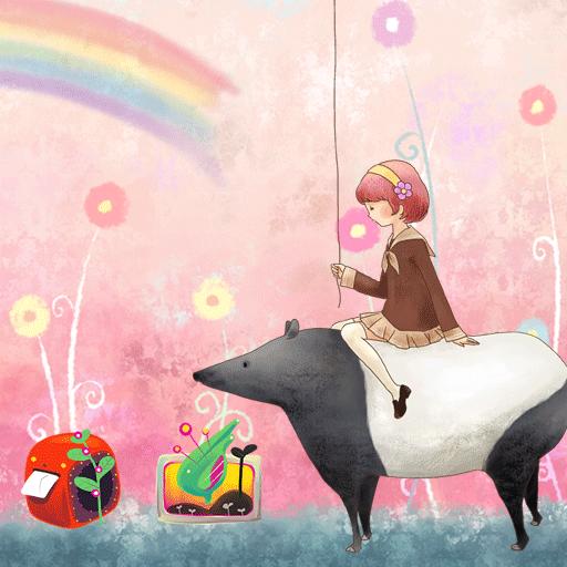 粉紅色的童話夢的女孩 漫畫 App LOGO-APP開箱王