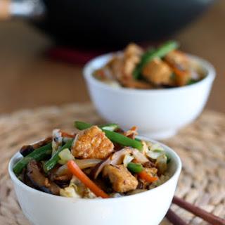 Tofu and Shiitake Stir-Fry