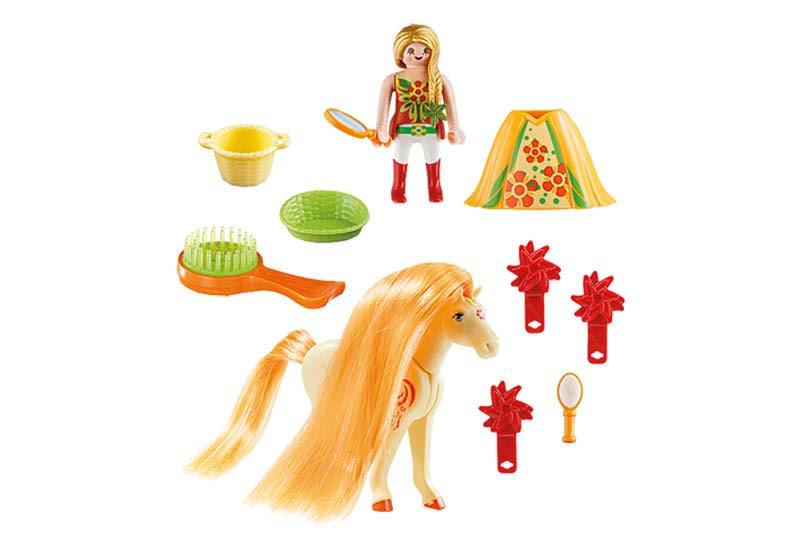 Contenido real de Playmobil® 5656 Maletín Grande Princesa con Caballo