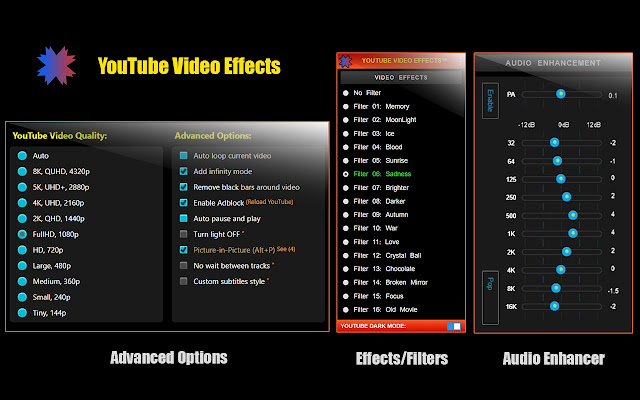 YouTube Video Effects And Audio Enhancer