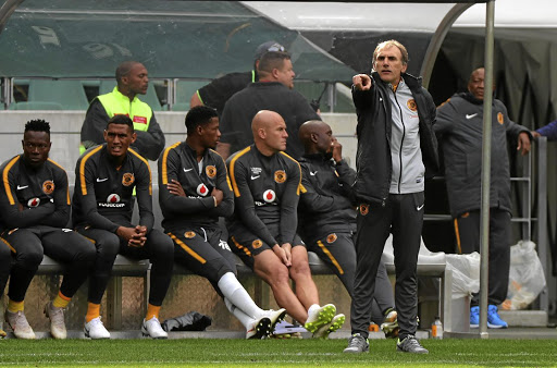 Valuable lessons learnt: Kaizer Chiefs coach Giovanni Solinas, right, says the recent minicrisis at the club has not been a bad thing. Picture: CHRIS RICCO/ BACKPAGEPIX