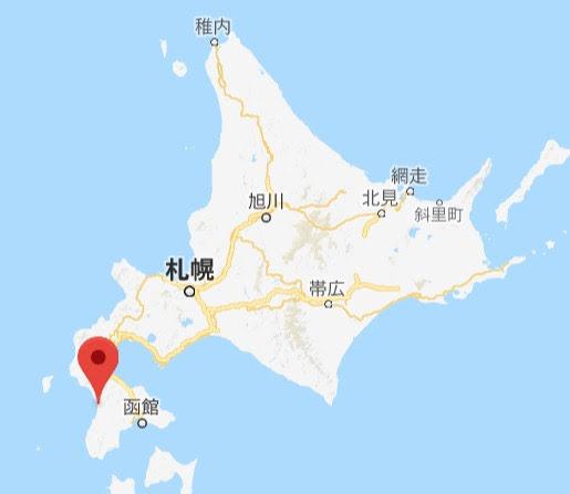 地図:道の駅江差