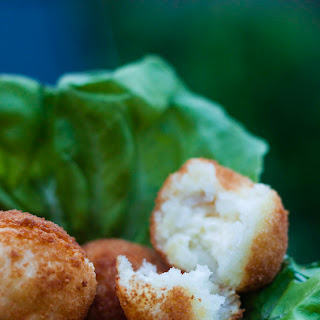 Fried Yucca Balls Stuffed with Cheese