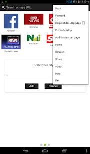 Bingo Browser app - náhled