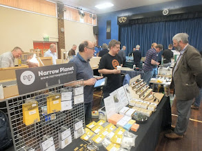 Photo: 007 Spotlight on the traders 2: Steve Fulljames' Narrow Planet range continues to grow from strength to strength and Bob Vaughan continues to spend much time in front of the stand – a worthy recommendation to everyone else who have not yet sampled the NP wares! .